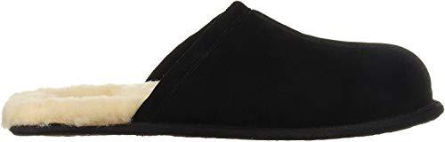 UGG Male Scuff Slipper, Black, 12 (UK) 46 EU