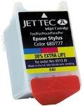 JetTec Tintenpatrone für Epson Stylus Color 680/680 TR/685 -color -30% mehr Inhalt-
