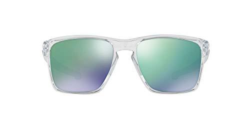 Oakley Men's OO9341 Sliver XL Rectangular Sunglasses, Polished Clear, 57 mm