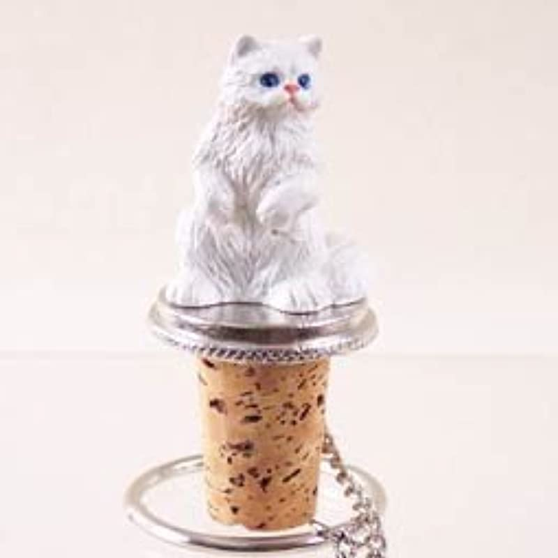 White Persian Cat Wine Bottle Stopper CTB08 Kitchen By Conversation Concepts