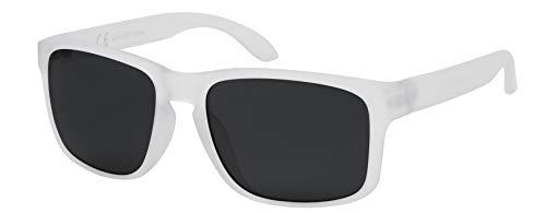 La Optica B.L.M. Occhiali da sole da uomo UV400 CAT3 leggeri Sport – con custodia per occhiali e panno per la pulizia Gomma trasparente (lenti: grigio). M