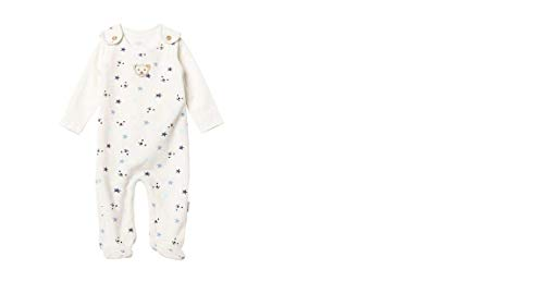 Steiff Wellness GOTS Baby Nicki Strampler/Zweiteiler mit Sternen und Teddy,weiß-blau L001922430 (62)