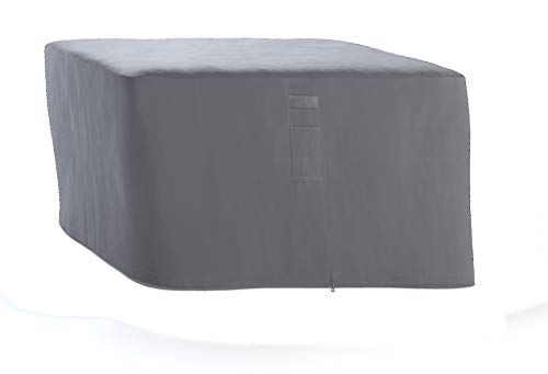 HBCOLLECTION® Housse Respirante pour Table Salon de Jardin 4 Places carré 117x117cm Gris