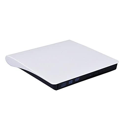 USB 3.0/tipo-c delgado externo DVD RW CD grabador unidad grabadora lector lector unidades ópticas para ordenador portátil, blanco