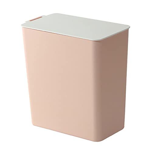 liangzishop Cubos de Basura El Nuevo Mini Mini Solid Color Desktop Basura no Puede clasificar la Papelera de Almacenamiento de la Cocina de la Cocina de Basura. Papeleras (Color : Pink)