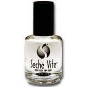 Seche Vite Dry Fast Top Nail Coat, Clear - .5 oz. oz