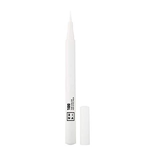 3INA MAKEUP - Vegan - Cruelty Free - The Color Pen Eyeliner 100 - Weiß Filz-Eyeliner - Eyelinerstift - Langhaltende Definition - Hochpigmentiert - 8 Farben