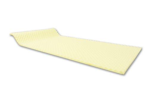 Dibapur - ca. 90cm x 200cm x 3cm - Visco-Noppen Profil/Glatt Schaumplatte, matratzenauflage, Schaumstoff Platte TYP RG55