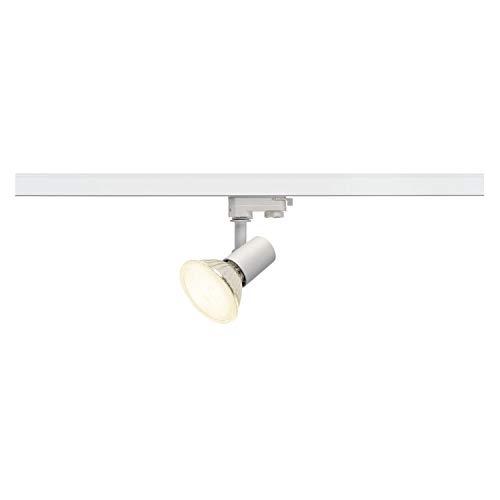 SLV 3 Phasen System Leuchte E27 SPOT / Strahler, LED-Spot, Decken-Strahler, Decken-Leuchte, Schienensystem, Innen-Beleuchtung / E27 75.0W weiß