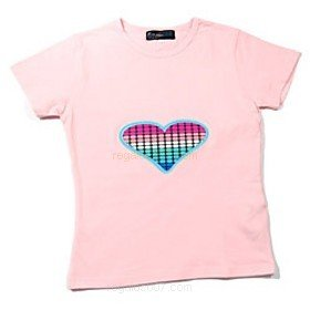 T-shirt LED roze maat M