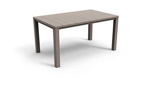 Keter Tavolo da Esterno Julie - Tavolo da Giardino Adatto Per 6 Persone 147X90X74,5H - Cappuccino