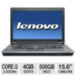Lenovo Thinkpad 15.6 Core I3 500Gb Notebook