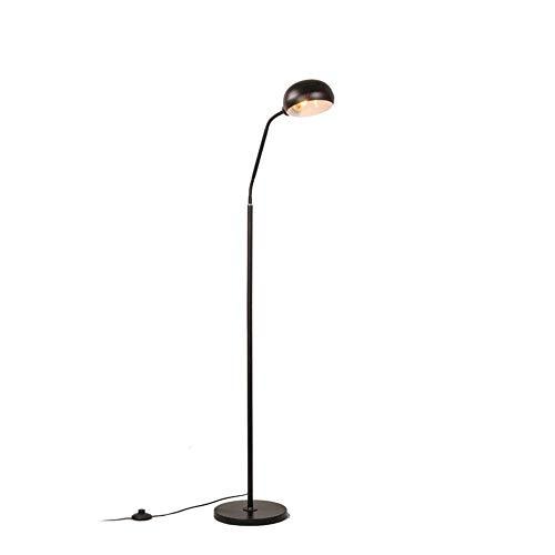 LJYY Lámpara de pie para Interior E27 Lámpara de pie Minimalista Moderna Lámpara de Hierro Forjado Lámpara de Lectura Corporal con Interruptor de pie para Sala de Estar Dormitorio Lámpara de pie