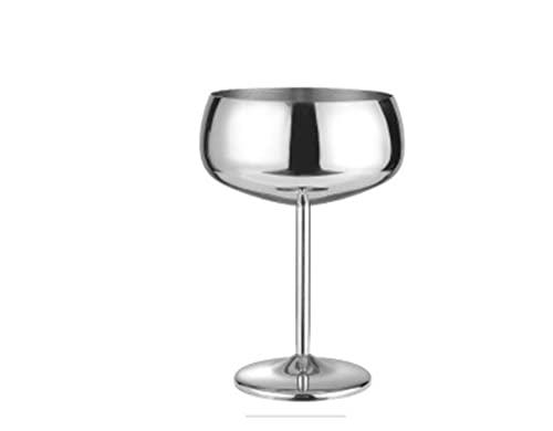 HHH 304 Acero Inoxidable Cobre Chapado en una Sola Capa Copa de cóctel 500 ml Taza de Vino Tambor Tambor Taza de Champagne Taza de Vino Conjunto de vinos HHH (Color : G)