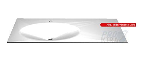 PELIPAL Solitaire 6010 Krion-Waschtisch, Weiß matt/KWT 54-1130-L/R/B: 113 cm
