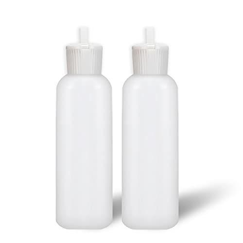 MoYo Natural Labs 2 oz Squirt Bottles, Squeezable Empty Travel Containers, BPA Free HDPE Plastic for Essential Oils and Liquids, Toiletry/Cosmetic Bottles (Pack of 2)
