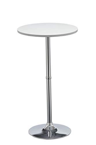 Duhome Elegant Lifestyle Bartisch Stehtisch aus Holz (MDF) Bistrotisch Tisch Hochtisch Höhe 105 cm Farbwahl, Farbe:Weiss, Material:MDF