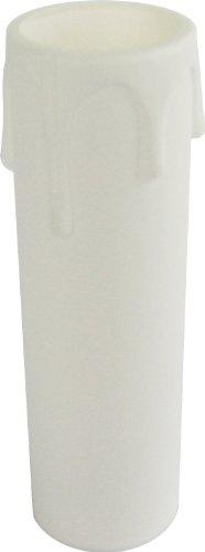 Energaline 70541 kaars, rustiek, E14, hoogte 6,5 cm, wit