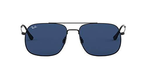 Ray-Ban 0RB3595 Gafas de sol, Rubber Black, 56 Unisex