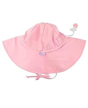 RuffleButts Baby/Toddler Girls Pink Adjustable Sun Hat w/UPF 50+ Protection - 12-24m