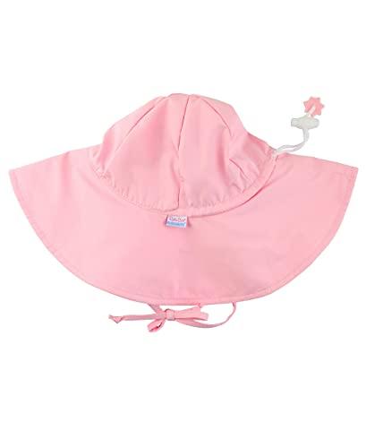 RuffleButts Baby/Toddler Girls Pink Adjustable Sun Hat w/UPF 50+ Protection - 0-6m