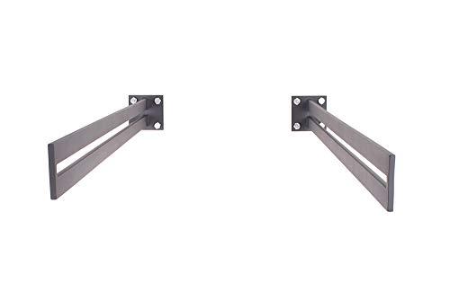 VL-1050, luifel, antraciet, grijs, 1 paar, sleuf luifel, luifel, luifel, stalen luifel, glazen luifel, deurluifel, huisdeur houder