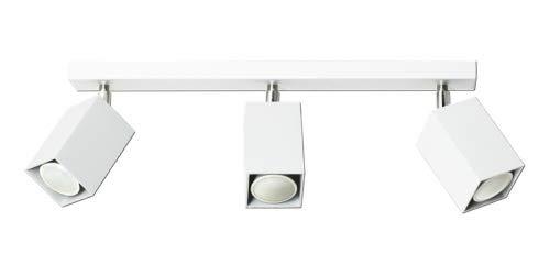 Lampex. Plafoniera Nero 3 Bianco