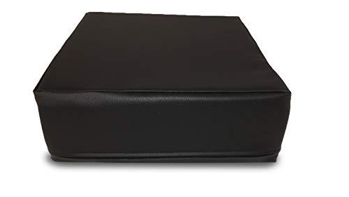 Cuscino & more ERGOONE - Cuscino ortopedico per sedia, 34 x 34 x 12 cm, cuscino contro il mal di schiena in schiuma viscoelastica, rivestimento in similpelle