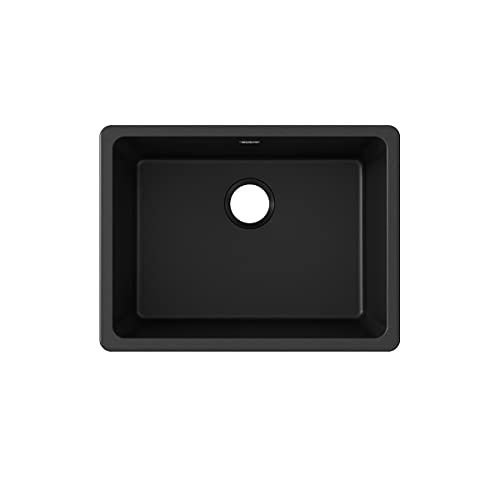 Elkay Quartz Classic ELGU2522BK0 Single Bowl Undermount Sink, Black