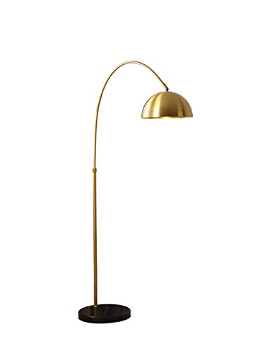Staande lamp, LED volledig koper hemisfeer instelbare telescoop woonkamer verticale hotelkamer Villa bedlampje