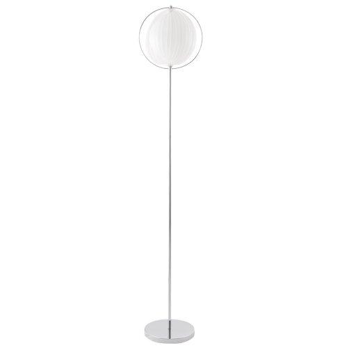 Alterego Lampadaire Design 'Luna' Blanc avec lamelles en Plastique Flexibles