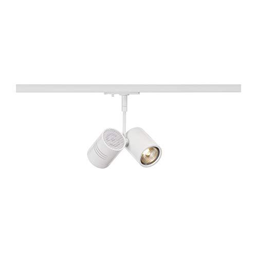SLV 1 Phasen System Leuchte BIMA 2 / Strahler, LED-Spot, Decken-Strahler, Decken-Leuchte, Schienensystem, Innen-Beleuchtung / GU10 50.0W weiß