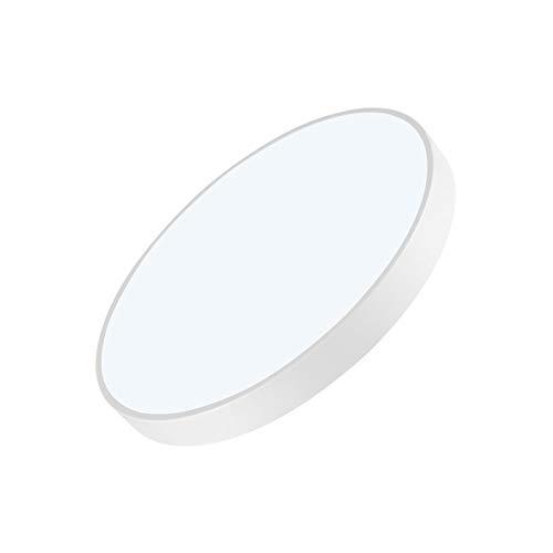 WOCAO Lámpara de Techo LED Blanco Cálido 3000K Plafón de Techo Redonda LED Plafón, Ultra Delgado Moderna Downlight para Dormitorio, Iluminación Funcional para Interiores, Blanco 48W-Cool White