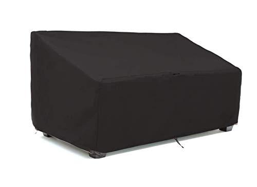 Trädgårdsbänköverdrag, utomhusbänköverdrag 2/3/4 sittplats, vattentätt 210D Oxford tyg trädgårdsmöbelöverdrag, lämplig för träpall/trädgård två-sits soffa(Size:3 seats 162X66X89cm)