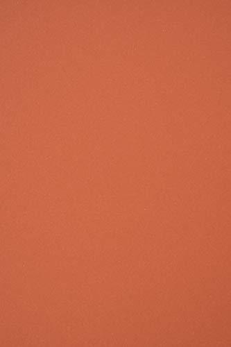 10 x Ziegelfarbe Karton Recycling DIN A4 210x297 mm Materica Terra Rossa 360g Kartenkarton ökologisch Tonpappe farbig A4 für Kartengestaltung Bastelarbeiten Dekorationen DIY Kunst und Handwerk