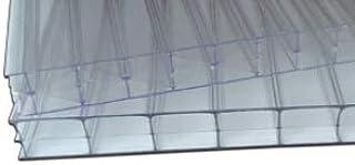 IRONLUX Policarbonato Placa | Panel Policarbonato Celular Compacto, Transparente 16 mm, 500 x 525 mm