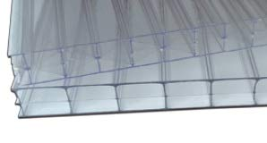 IRONLUX Policarbonato Placa | Panel Policarbonato Celular Compacto, Transparente 16 mm, 1000 x 1200 mm
