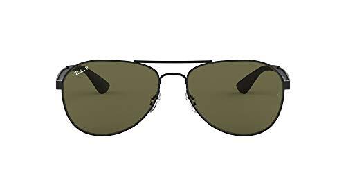 Ray-Ban Junior Herren RB3549 Sonnenbrille, Schwarz (Negro Mate), 0