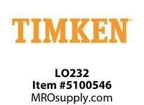 Timken LO232 Labyrinth Dichtung mit O-Ring für 232 Kugellager