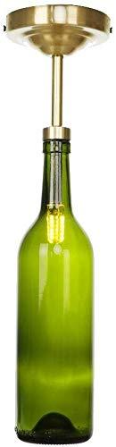 Moderne wijn fles glas plafond lamp led creatieve decoratie plafond licht enkele hoofd koperen verlichting armatuur voor Aisle trappen restaurant kleding winkel (kleur: rokerige grijze wijnfles)
