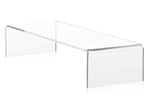 Lac Acrylglasständer für Monitore, Computer, Laptops, TV, 40x25x10cm, modernes Plexiglas, ergonomischer transparenter Ständer, ideal zum Erhöhen des Bildschirms, verbessert ihre Körperhaltung