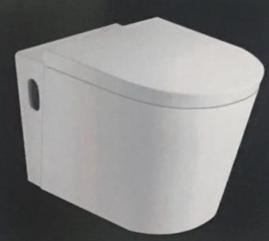 Art-of-Baan® - Design Wand WC Hänge WC, inkl. Soft-Close Sitz, Toilette 580x355x350 mm (GF10)