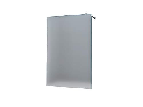 10 mm Duschtrennwand Duschwand Trennwand Duschabtrennung Walk-In Düsseldorf - Milchglas, Frost 160 x 200 cm