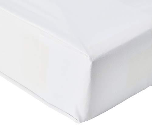 Amazon Basics AB 200TC Poly Cotton, Miscela di Cotone, Bianco, 90 x 190 x 30 cm