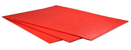 Lasergummi/Stempelgummi, 31x22 cm, Stärke 2,3 mm, 1 Stk – zur Herstellung von Stempelplatten unter Lasergravurmaschinen – geruchsarm, abriebfest