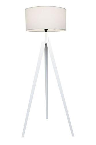 Kiom lampadaire Kuno trépied en métal blanc 153cm 10842