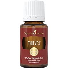 MULTI-USE MIXTURE: A powerful combination of Clove, Lemon, Cinnamon Bark, Eucalyptus, and Rosemary oils, Thieves is a versatile blend that can be used topically or aromatically. AUTUMN SPICE: Thieves provides an invigorating, spicy cinnamon aroma tha...