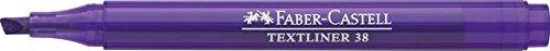 FABER-CASTELL TEXTLINER 38 - Rotuladores fluorescentes (10 unidades), color morado