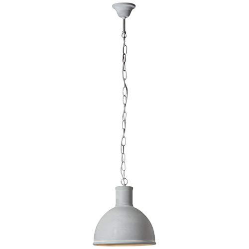 BRILLIANT Suspension style industriel Bente diametre 30 cm E27 60 W gris ciment
