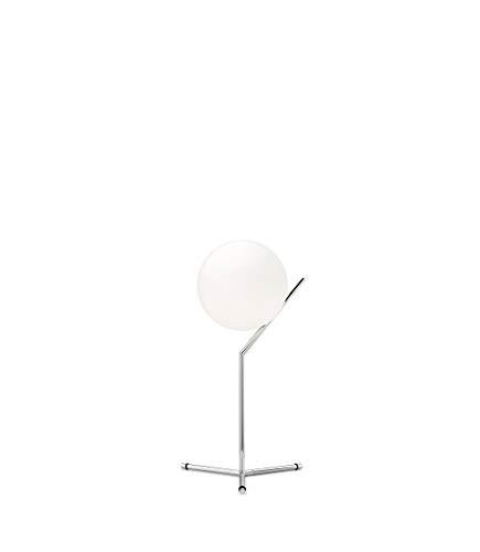 FLOS Lampada Tavolo Ic T1 High Vetro Bianco/Cromo